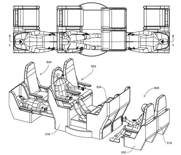 asientos de avion elevados